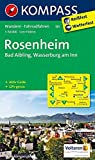 KOMPASS Wanderkarte Rosenheim - Bad Aibling - Wasserburg am Inn: Wanderkarte mit Aktiv Guide und Radwegen. GPS-genau. 1:50000 (KOMPASS-Wanderkarten, Band 181) - KOMPASS-Karten GmbH