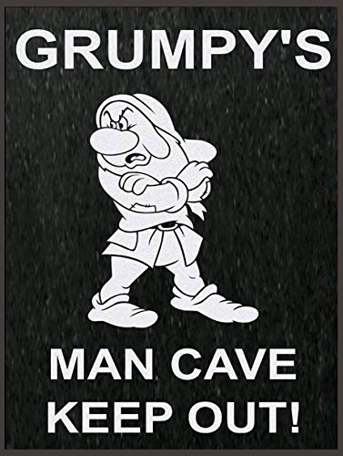 SHAWPRINT GRUMPY'S MAN CAVE METAL TIN WALL PLAQUE SIGN NOVELTY GIFT (8 x 6)