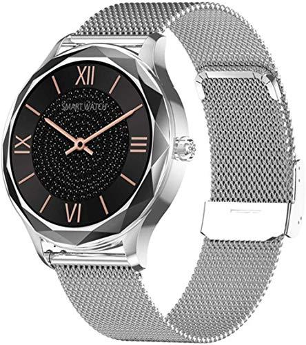 hwbq Reloj Inteligente Señoras 1.09 Pulgadas HD Pantalla Táctil Impermeable Mujeres Smartwatch Fitness Tracker Reloj para Android-C