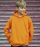 Cotton Ridge Awdis Kids Hoodie : Color - Orange : Size - 5-6