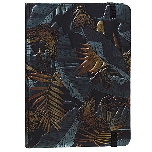 Space Home - Blog de Líneas - Cuaderno de Notas - Libreta de Cartón - Libreta con Goma - 13 x 18 cm - Diseño Flores