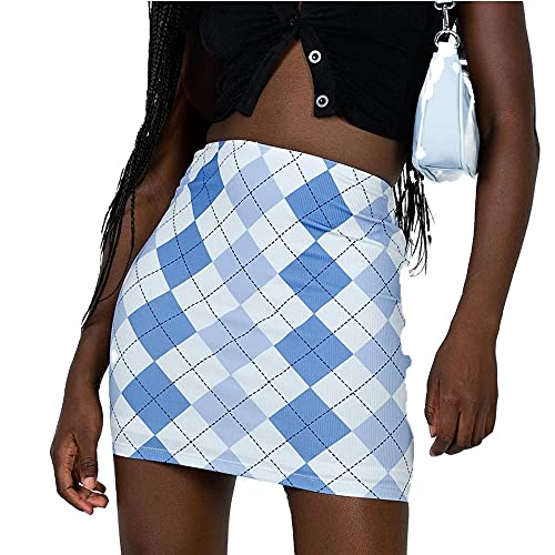 N\P Falda de mujer a cuadros color contraste falda