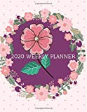 2020 Weekly Planner: Jan 2020 - Dec 2020 Weekly & Monthly Planner Full 1-Year 12 Month Yearly Calendar (Navy Floral Cover)