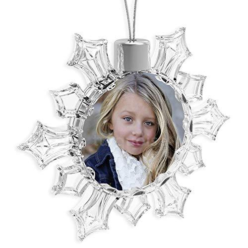 Turquoise Personalised Photo Christmas Xmas Tree Snowflake Bauble Decoration Ornament Gift