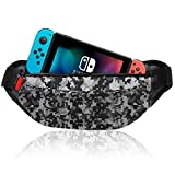 Travel Bag for Nintendo Switch Portable Shoulder Bag for Nintendo Switch Console, Joy-Con, Phone, USB Cable and Accessories, Lightweight Backpack for Travel, Hiking, Cycling