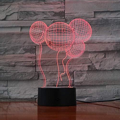Globos Novedad 3D Ilusión Lámpara Led Decoración Colorido Lámpara De Noche Usb Mesa Lampen Mesilla De Noche Luz De Noche Regalos Creativos Para Niños