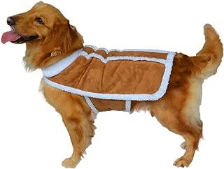 Yu-Xiang Large Dog Vest Coat Dogs Winter Costume Pet Coat Shearling Fleece Dog Warm Coat Pet Faux Sherpa Suede Cozy Pet Jacket Outwear for Medium Large Dog