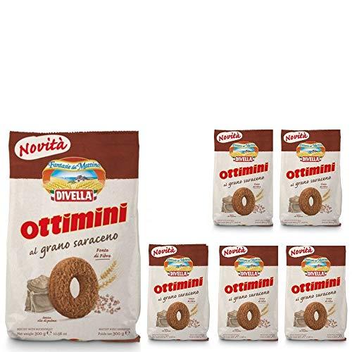 Divella Biscotti Ottimini al Grano Saraceno 6 Confezioni da 300 grammi