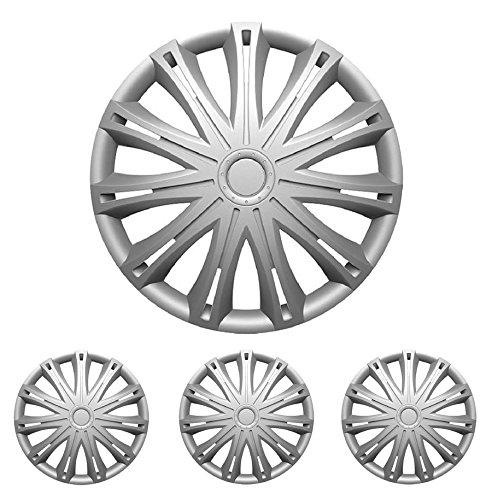 """Fussmatten-Deluxe Radkappen Radblenden Radzierblenden 4 Stück Silber 15 Zoll 15"""" R15#SP# für Standard - Stahlfelgen"""