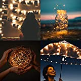 LED Lichterkette Batterie, 10 Stück 2M 20 Micro LEDs Lichterkette mit CR2032 Batterie Betrieb IP65 Wasserdicht String Fairy Light für Party, Garden, Christmas Dekor, Flasche DIY, Warmweiß - 6