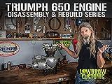 Triumph 650 Motorcycle Engine Disassembly & Rebuild - Vapor Blasted