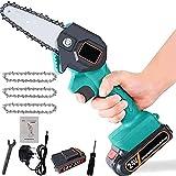 Mini scie électrique Mini-Scie électrique Portable sans Fil Chainsaw avec Chargeur et 1 Batteries 3 chaînes électriques élaguer SHENTIANWEI