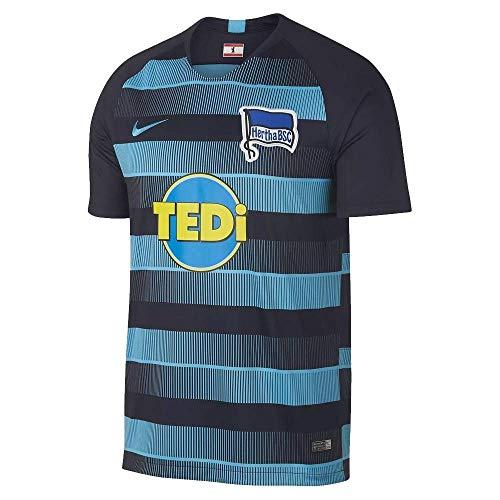 Nike Herren Hertha BSC Breathe Stadium Away T-Shirt, Dark Obsidian/Chlorine Blue, S