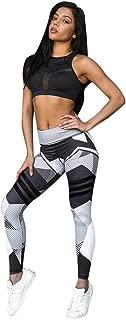 Litetao Yoga Pants, Women Sexy Sports Gym Workout Mid Waist Geometric Print Elastic Leggings