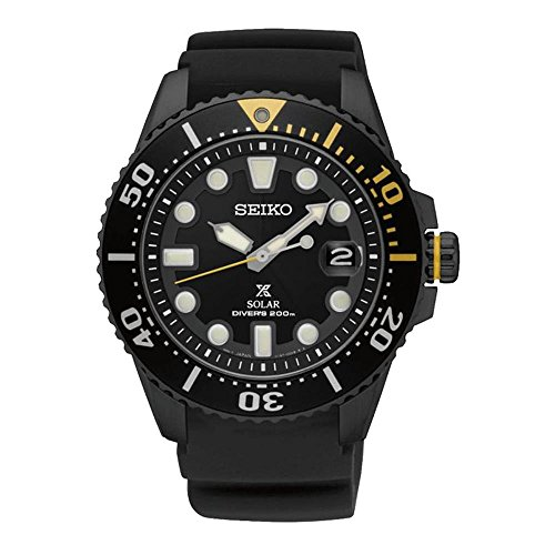 Seiko SNE441 Prospex Men's Watch Black 43.5mm Stainless Steel