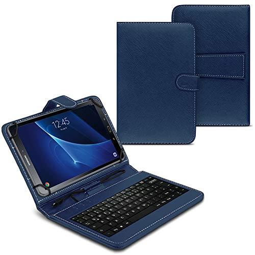 NAUC Funda para tablet compatible con Samsung Galaxy Tab A6 10.1 2016 T580 T585 con teclado USB