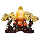 WSFANG Feng Shui Money Treei Bonsai Fortune Money Tree for buona Fortuna, ricchezza e prosperità-Home Office Decor Dono Spirituale per L'Ufficio a casa