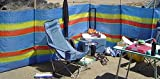 SIF 4, 5, 6, 8, 10, Pole de Plage Vacances Caravane Camping Pare-Vent Tall Windbreakers, 4 Poles- Height - 4ft x Long -7ft