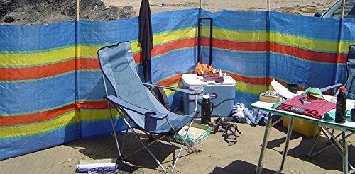 SIF 4, 5, 6, 8, 10 POLE BEACH HOLIDAY CARAVAN CAMPING WINDBREAK TALL WINDBREAKERS (10 Poles- Height - 5ft x Long -20ft)