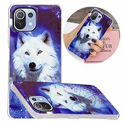 speakers with nfcs WVYMX Case for Xiaomi Mi 11 Lite Case Silicone Luminous Back Cover Soft Slim TPU Bumper Shockproof Phone Case Cover for Xiaomi Mi 11 Lite Wolf
