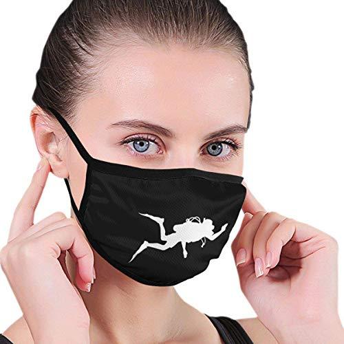 Jingliwang Gesicht M_as & ks Mundschutz Tauchen Unisex Waschbar Wiederverwendbarer Ohrhaken Doppelschicht Nasenschutz Druckgrafiken Kopfwickel Schwarz