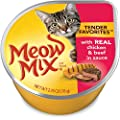 Meow Mix Tender Favorites Wet Cat Food, Chicken & Beef, 2.75 Ounce Cup (Pack of 12)