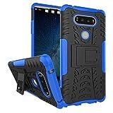 TiHen Handyhülle für LG V20 Hülle, 360 Grad Ganzkörper Schutzhülle + Panzerglas Schutzfolie 2 Stück Stoßfest zhülle Handys Tasche Bumper Hülle Cover Skin mit Ständer -Blau