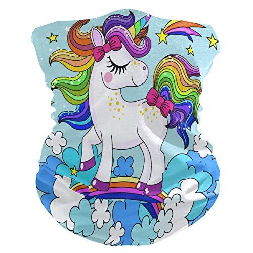Lerous - Pasamontañas sin costuras, diseño de unicornio y arcoíris