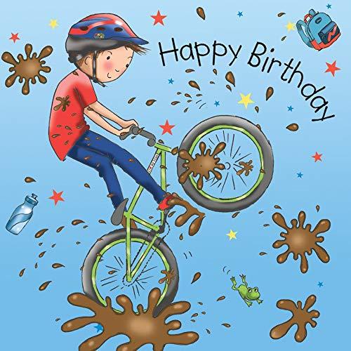 Twizler Geburtstagskarte mit Mountainbike - Geburtstagskarte für Jungen - Geburtstagskarte für Jungen - Geburtstagskarte für Jungen - Sportliche Geburtstagskarte - Kindergeburtstagskarten