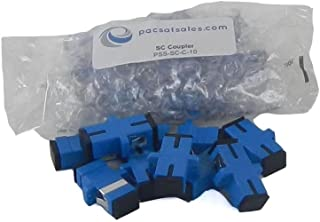 PacSatSales - Fiber Optic Couplers and Adapters - ST, SC/APC, SC, LC, FC - Industry Proven - Singlemode. (SC to SC)