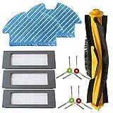 WDGNY Accesorios de limpieza para Deebot Ozmo 900 Filtro Cepillo Fregona Set de piezas de aspiradora Robot Aspiradora Cepillo lateral Kit de cepillo cepillo