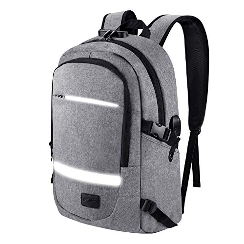 Laptop Backpack Travel RFID, Anti Theft Backpack for Men Women Business Computer Backpack with USB Charging Port Slim and Lock 15.6 Inch College School Bookbag Computer Laptop Bags Water Resistant