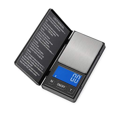 Elektronische Weegschaal Sieradenschaal Hoge Precisie Blauwe Achtergrondverlichting Handpalmschaal Draagbare Zakweegschaal -0.01G ~ 500G