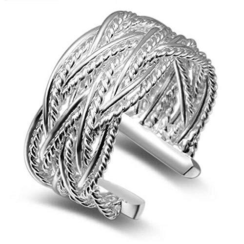 PRAK Damen Ring 925 Sterling Silber Verstellbar,Gold Blume Poetische Daisy Cherry Blossom Ring Für Schmuck Frauen Engagement Mode Und Veranstaltungsräume Wesentliche Kleidung Passende Geschenk