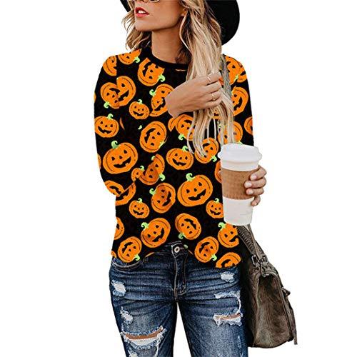 Azastar blouses dames elegante blouses casual luipaardbedrukt hemd blouse met lange mouwen casual sweatshirt pullover blouses