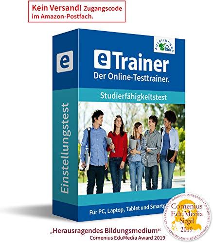 Studierfähigkeitstest 2020: eTrainer – Der Online-Testtrainer | Über 1.800 Aufgaben mit Lösungen: Allgemeinwissen, Sprache, Mathe, Logik, Konzentration und mehr | Eignungstest üben