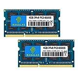 Rasalas PC3-8500 8GB Kit (2x4GB) DDR3 1066MHz Sodimm 2RX8 DDR3 1066 MHz PC3-8500S 1.5V CL7 RAM Memory for Laptop