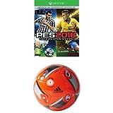Pro Evolution Soccer 2016 (PES 2016) - Day One Edition + adidas Euro16 Glider - Balón de fútbol, color rojo / negro, talla 5
