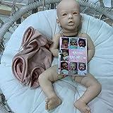 yuela Kit de muñecas Reborn de 20 Pulgadas Aleyna Popular Cara Linda Color Fresco Tacto Suave con COA