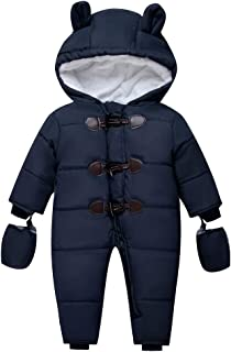 Yuege Baby Clothes Big Girls Winter Parka Down Coat Puffer Jacket Padded Overcoat with Fur Hood Waterproof Hooded Thick Coat 2-6T