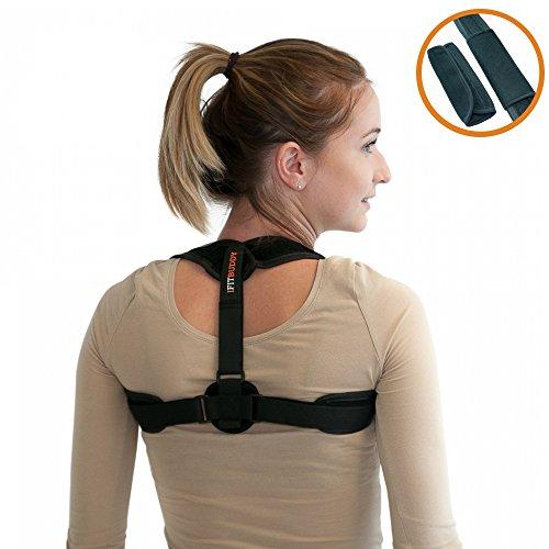 IFITBUDDY Redresse dos réglable homme femme pour se tenir droit - Maintien et redresse dos, clavicule et épaules pour une posture droite - Ceinture dorsale pour soulager le mal de dos