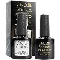 CND Shellac Xpress5 Laca de uñas de capa superior y laca de uñas de capa base, esmalte gel profesional, 7,3ml por frasco