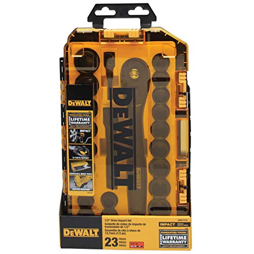 DEWALT Impact Socket Set, 23-Piece, 1/2