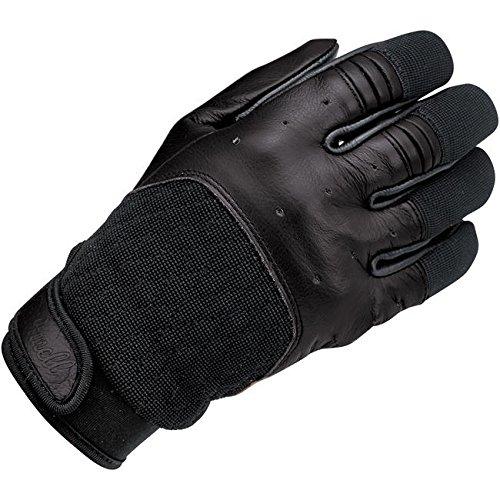 Handschuhe Gloves Leder Bantam Total Black Biltwell Herren Motorrad Biker Custom M schwarz