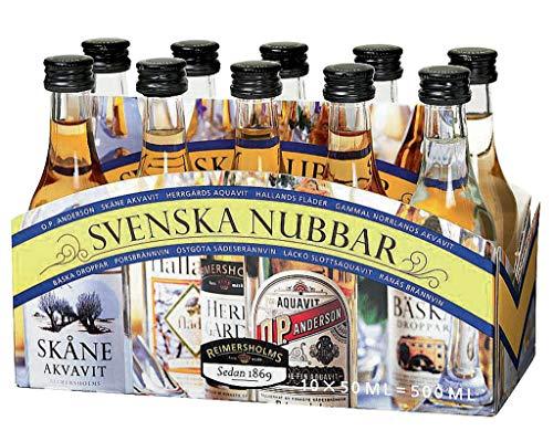 Svenska Nubbar - Spirituosensortiment 39% - 10 x 0,05l