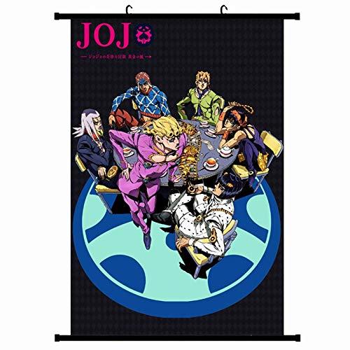 SGOT Anime JoJo's Bizarre Adventure Poster, Scrollen Patinting, Stoff Kunstdruck als Wandbild Raum Dekoration Thema Dekoration(20 * 30cm H02)
