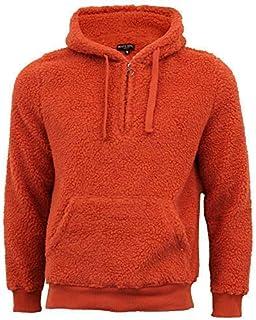 Brave Soul Mens Sherpa Fleece Sweatshirts Borg Half Zip