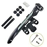 WOTOW Mini Double Inlet Bike Pump, Portable on Bike Pump Fit Presta and Schrader Bike with Repair...