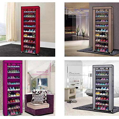 Best Price 10 Layer Fabric Shoe Rack Shelf Storage Closet Home Organizer Cabinet Show Tower