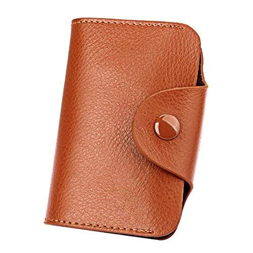 Funda de piel minimalista para tarjeta de órgano de moda, juego de tarjetas, monedero marrón 10.5¡Á7.5¡Á2.6CM